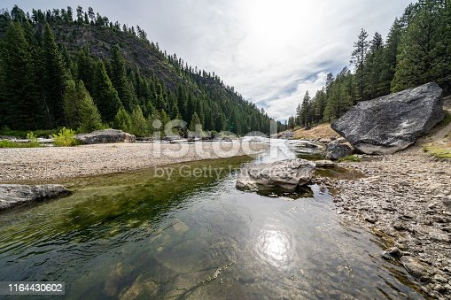 Middle Fork of the Salmon River in Idaho, near Boundary Creek in the summer