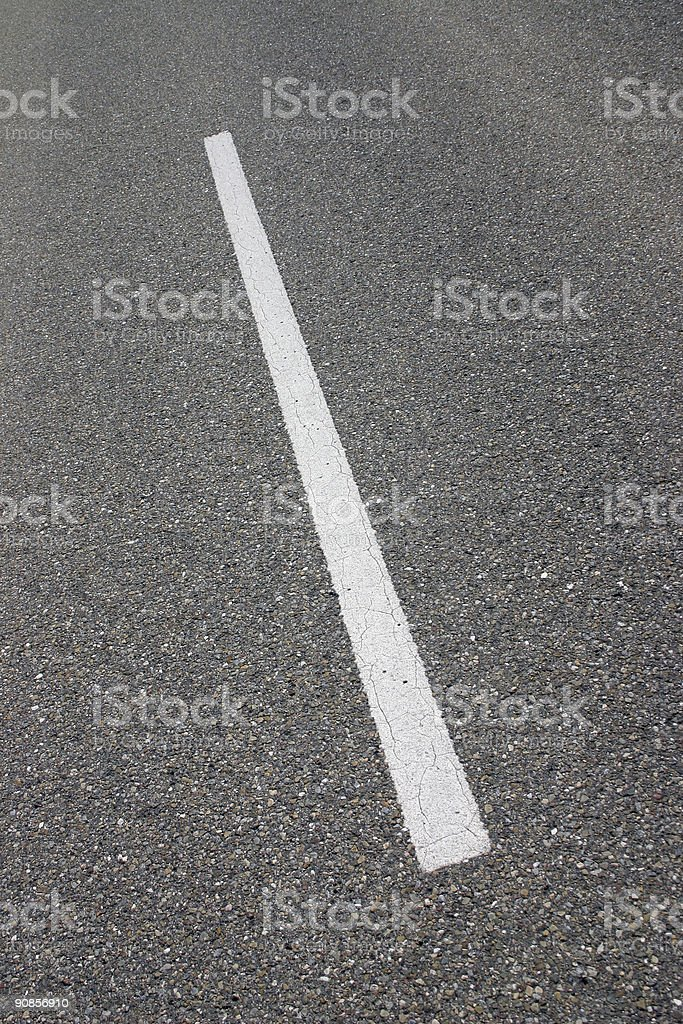 Middle marker line on the road royalty-free stock photo
