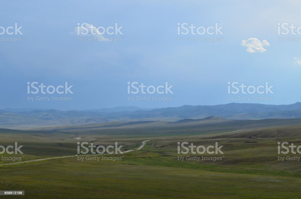 Middle of nowhere stock photo
