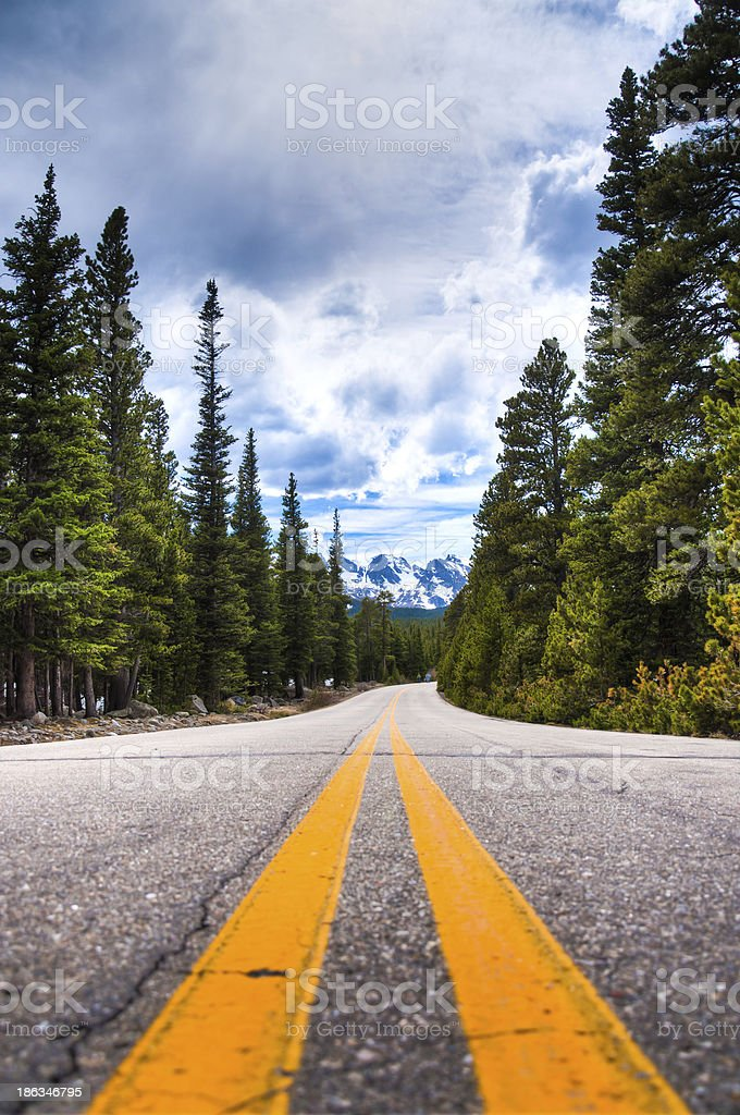 Middle of the Road royalty-free stock photo