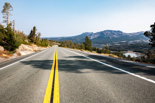 Middle of the road View stock photo