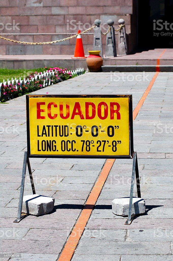 Middle of the world - Mitad del mundo royalty-free stock photo