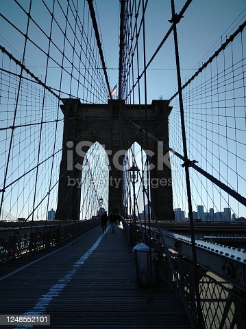 Middle of Brooklyn Bridge