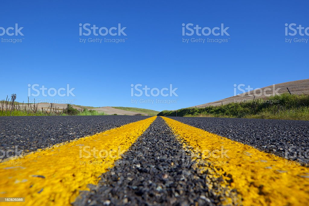 Middle Road stock photo