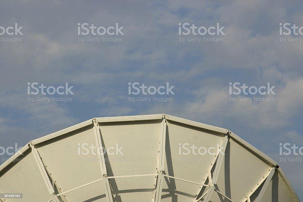 middle satellite royalty-free stock photo