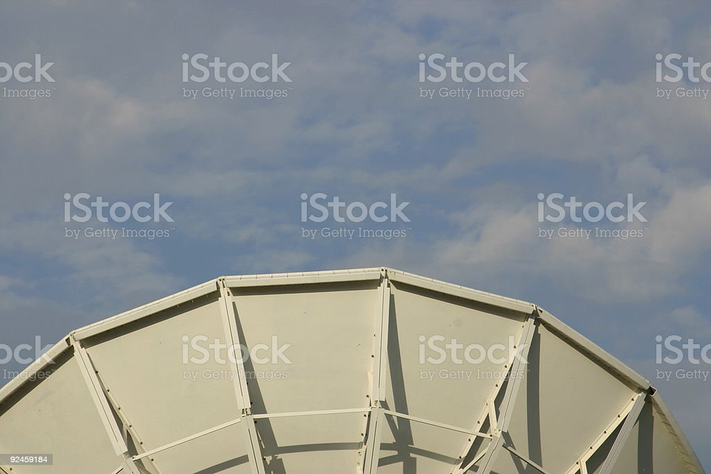 middle satellite stock photo