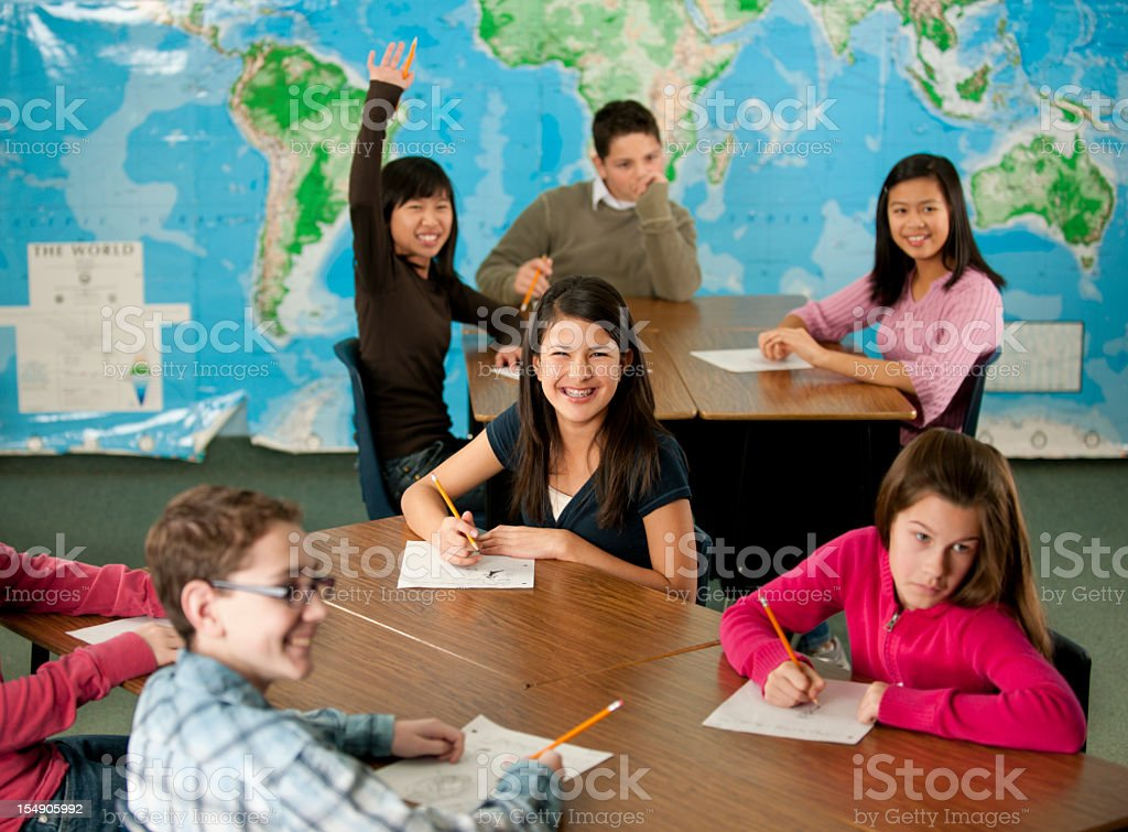 Middle school. royalty-free stock photo