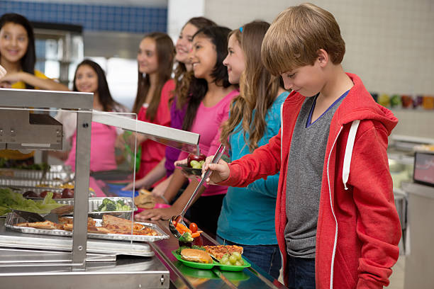 Middle school students choosing healthy food in cafeteria lunch line picture id174960201?b=1&k=6&m=174960201&s=612x612&w=0&h=zi9btz6yxc3m6becza31 rb xouuhjnnuuoywnlv8rg=