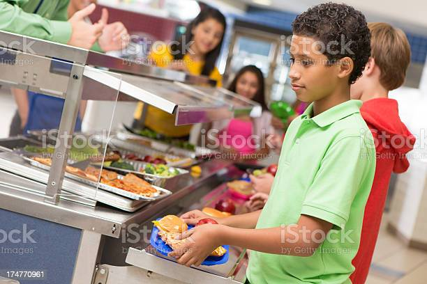 Middle school students getting lunch items in cafeteria line picture id174770961?b=1&k=6&m=174770961&s=612x612&h=vgki51an9spbwn7vaqw7gjimkhlmvhzadxe9yxucdn4=