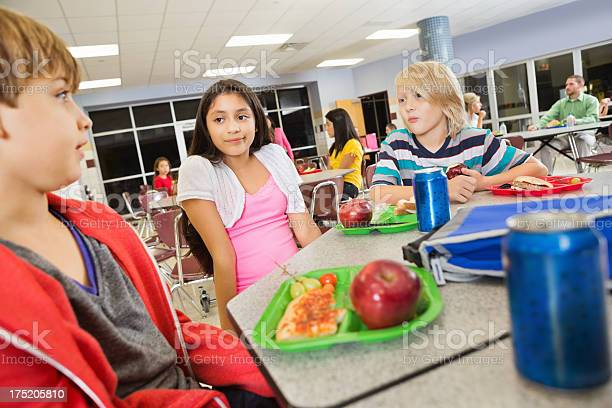 Middle school students having lunch together in cafeteria picture id175205810?b=1&k=6&m=175205810&s=612x612&h=3gxbuuzf3rdf nydz1za2o5nutvl2g5 xo5w8xsv5oi=