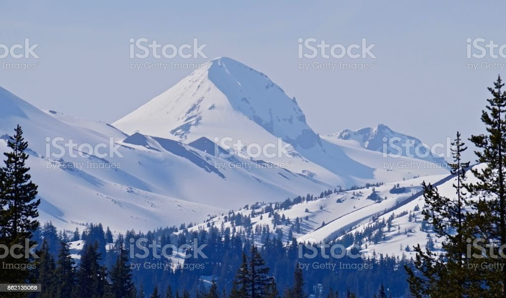 Middle Sister Ice stock photo