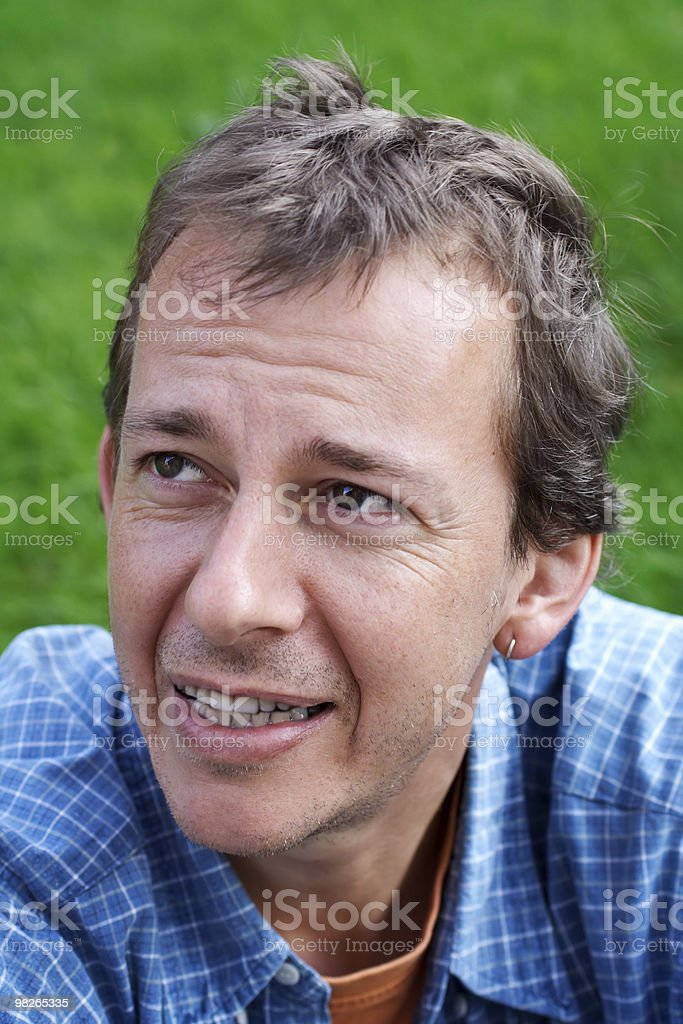 Middle-age man royalty-free stock photo