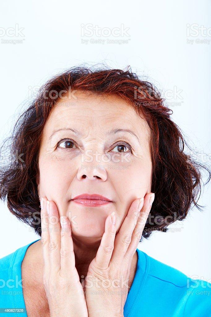 Mittleren Alter weiblichen Lizenzfreies stock-foto