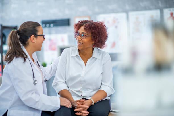 Middleaged woman visiting the doctor picture id1134340776?b=1&k=6&m=1134340776&s=612x612&w=0&h=opkjp13sn4l7vlaklr9njdpdhkswnd6uhtxw2hypgn8=