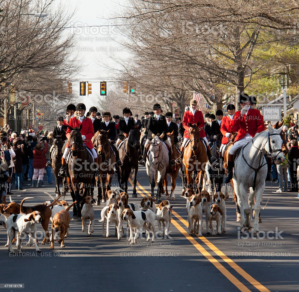 Middleburg hunt in traditional parade royalty-free stock photo