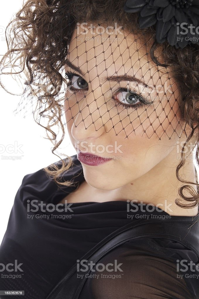 Middle-eastren beauty, semi-profile. royalty-free stock photo