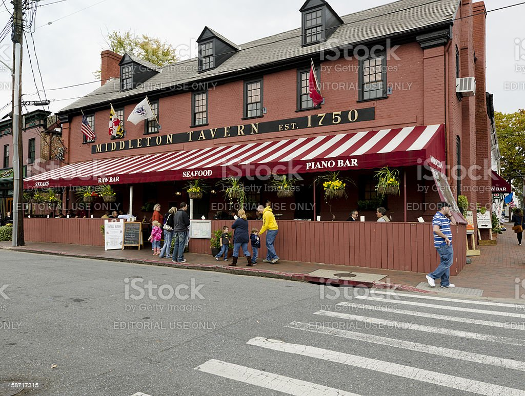 Middleton Tavern in Historic Annapolis stock photo