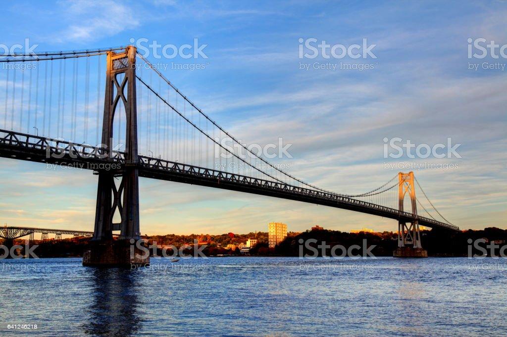 Mid-Hudson Bridge in Poughkeepsie, New York stock photo