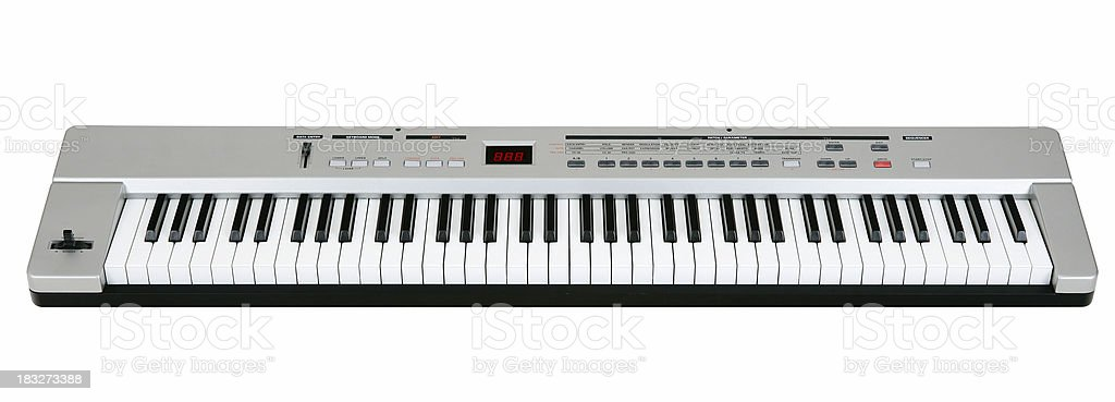 Midi keyboard on white stock photo