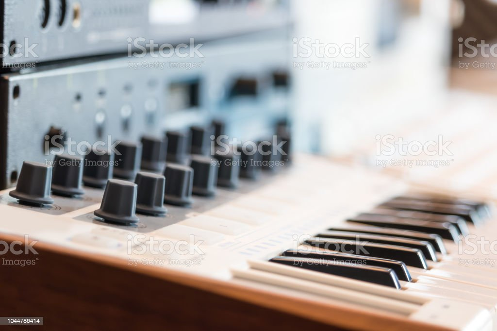Midi Keyboard Synthesizer And Sound Module Stock Photo - Download