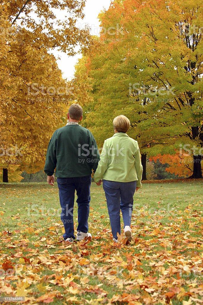 Midlife Series: Walking royalty-free stock photo
