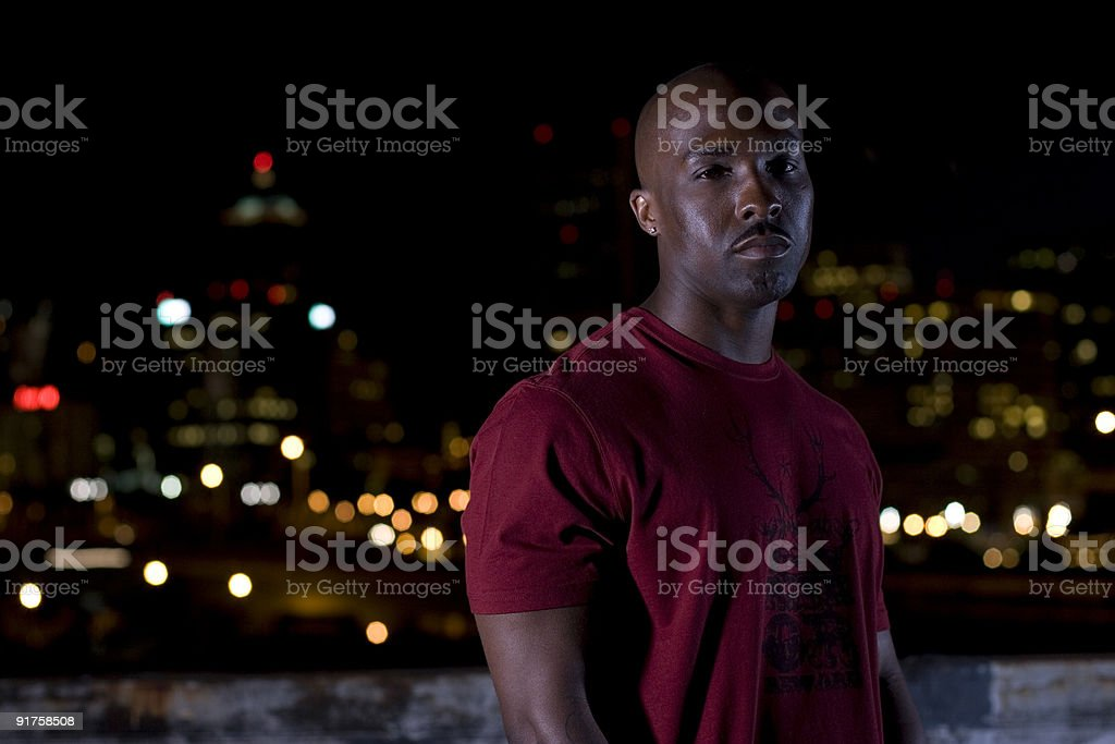 Midnight City royalty-free stock photo