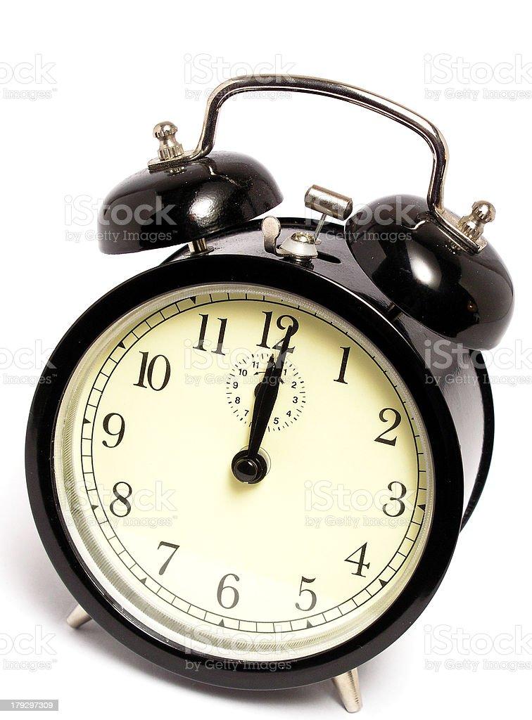 midnight clock royalty-free stock photo