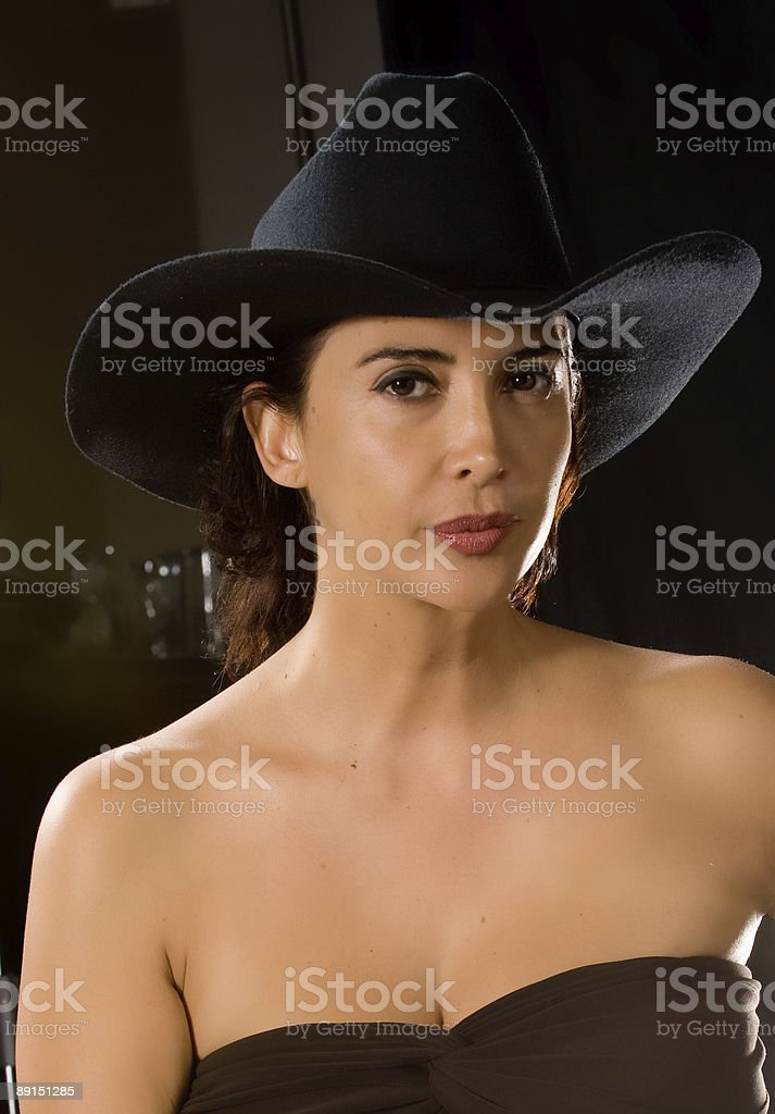 Midnight cowgirl royalty-free stock photo