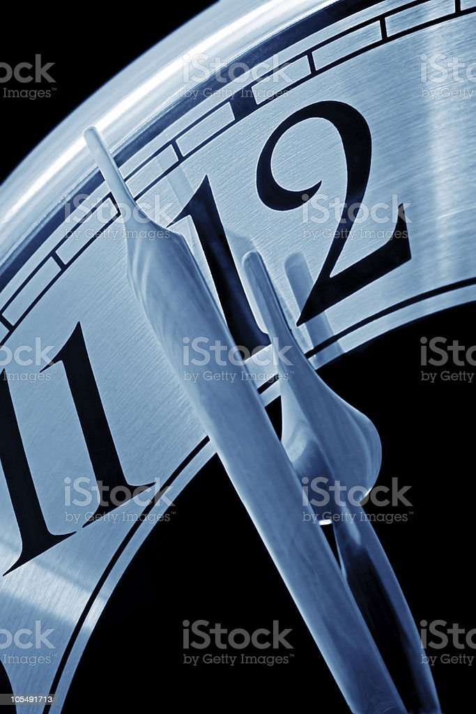 Midnight Deadline royalty-free stock photo