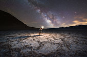 Badwater basin under the Milky Way Galaxy