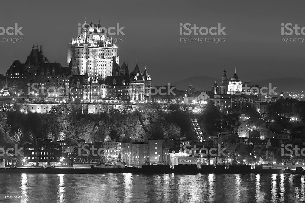 Midnight in Old Quebec City royalty-free stock photo