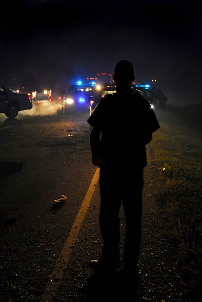 Midnight Investigation stock photo