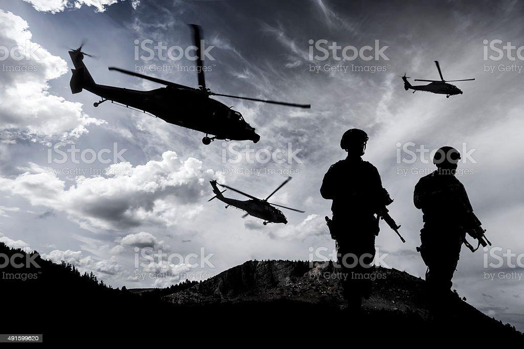 Полночный Военная Миссии стоковое фото