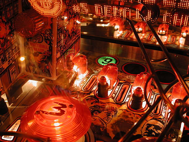 Midnight Pinball stock photo
