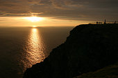 The Famous North Cape in Norway at midnight (nordkapp)