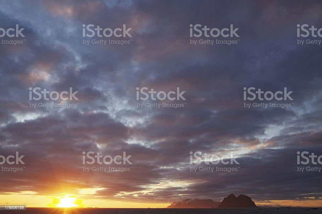 Midnight sun cloudscape royalty-free stock photo