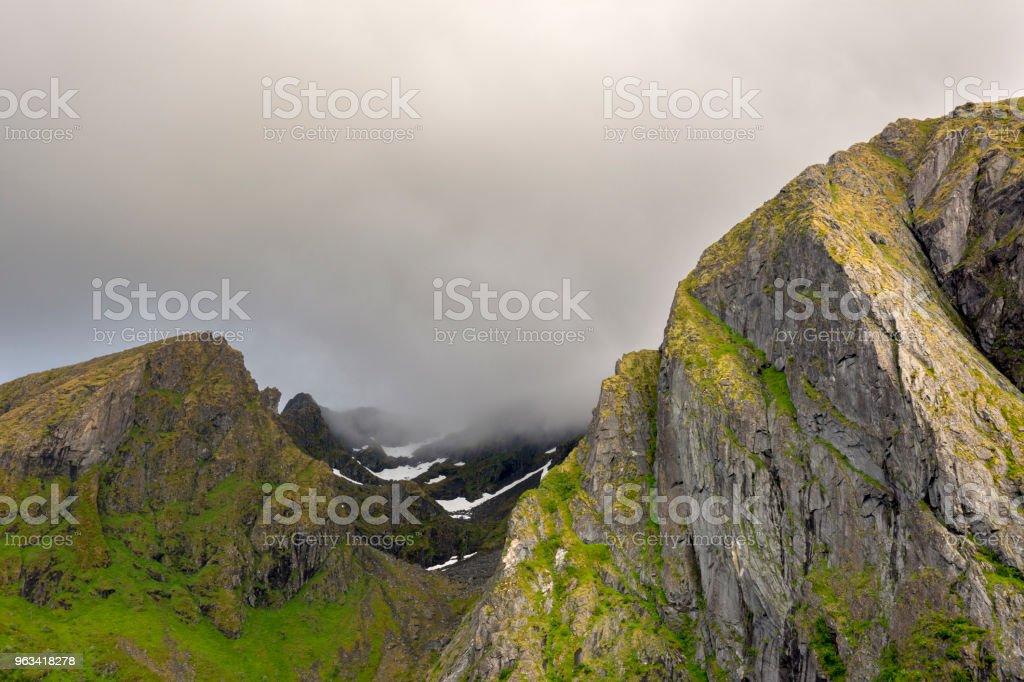 midnight sun in Eggun in Norway - Zbiór zdjęć royalty-free (Bez ludzi)