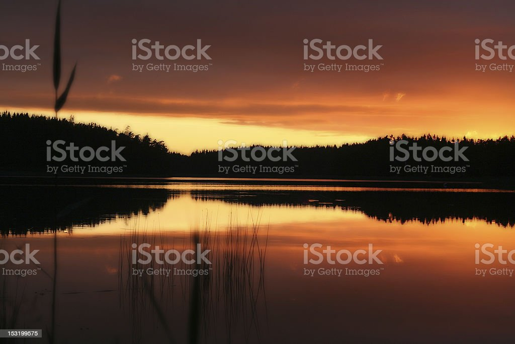 Midnight Sunset stock photo
