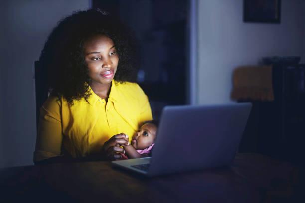 Mitternacht Video anruf für Mama und Baby – Foto