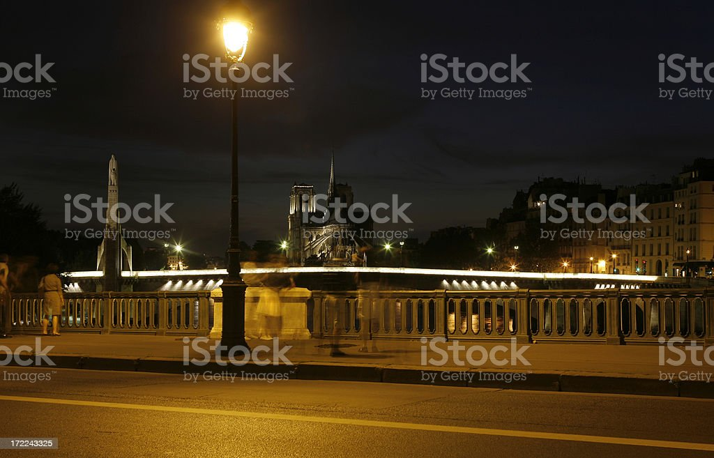 midnigth in Paris royalty-free stock photo