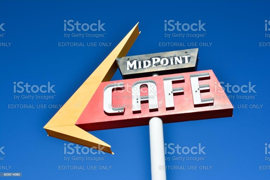Rota de café do ponto médio 66. - foto de acervo