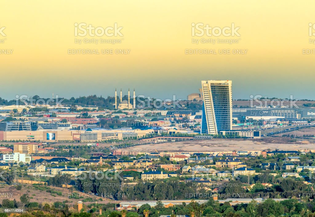 Midrand panoramic with the mall of Africa royalty-free stock photo