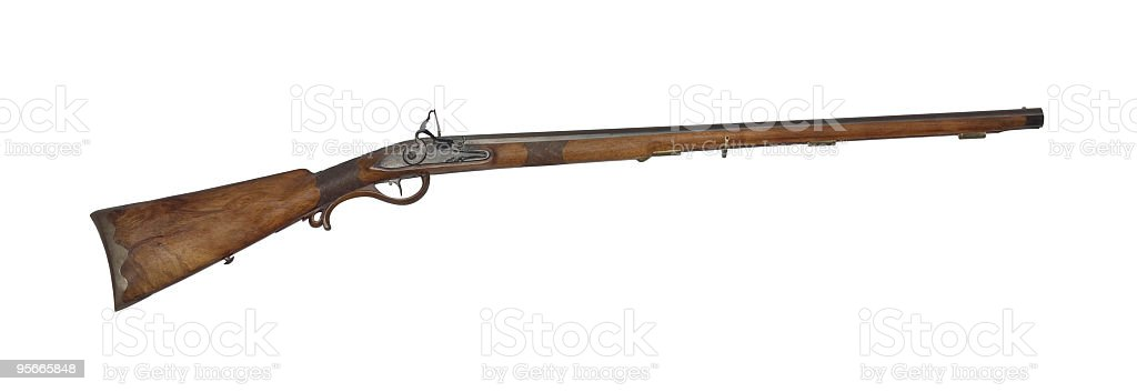 Mid-range hunting rifle of 19th century cutout stock photo