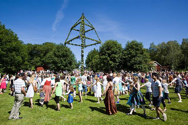 Midsummer Celebration stock photo
