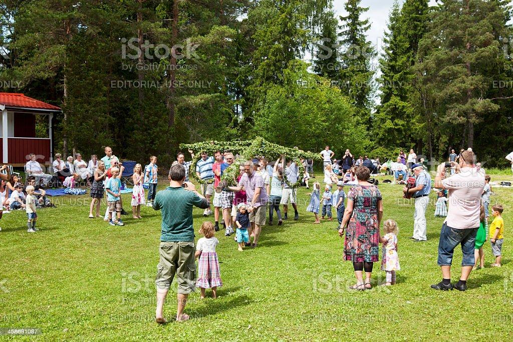 Midsummer Celebration royalty-free stock photo