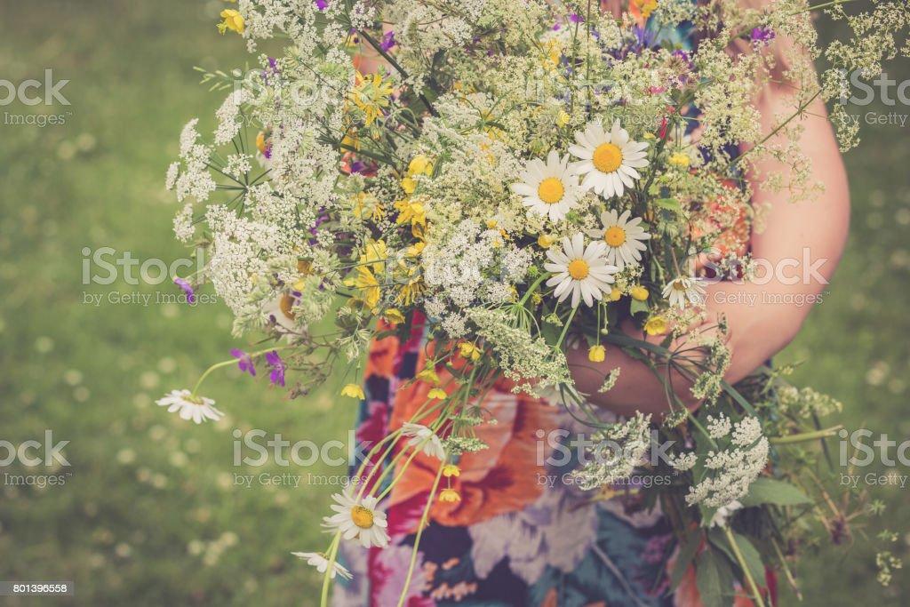 Yaz ortası çiçek stok fotoğrafı