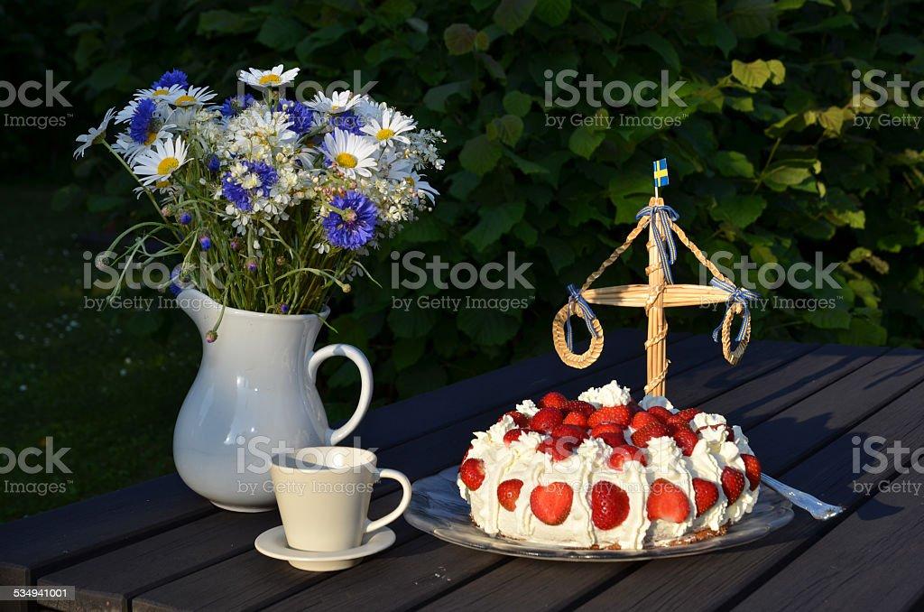 Midsummer table stok fotoğrafı