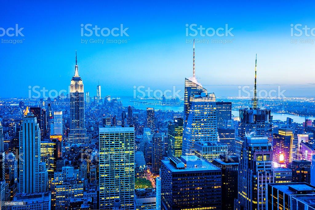 Midtown und Lower Manhattan skyline, New York, USA – Foto