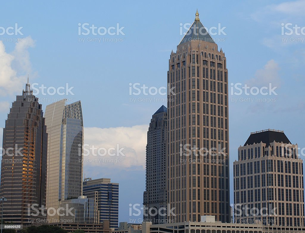 Midtown Atlanta royalty-free stock photo