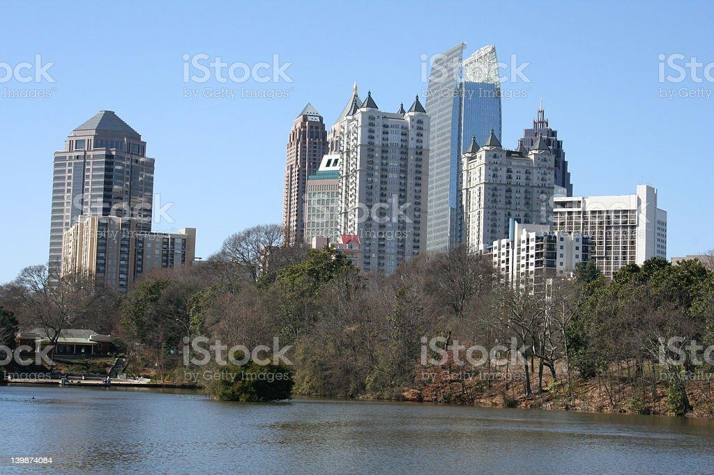 Midtown Atlanta Skyline stock photo